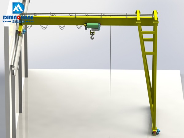 Europe style trackless Semi Gantry Cranes