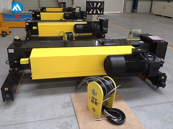 16 ton Europe style double girder electric hoist trolley