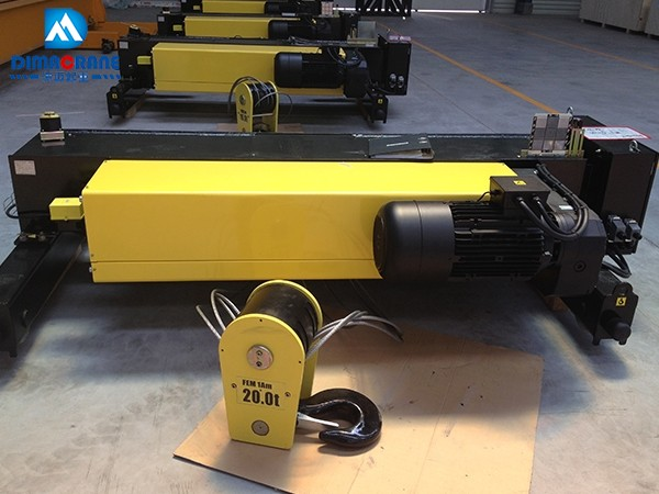 20 ton Europe style double girder electric hoists