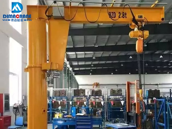 3 ton column mounted slewing jib cranes
