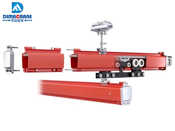 KBK crane system with built-in busbar